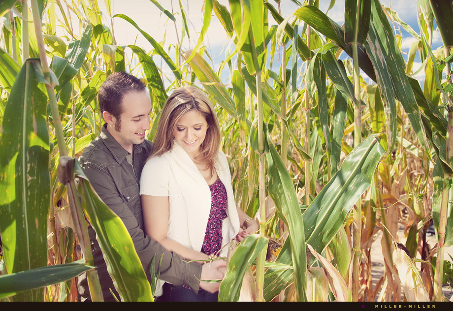 story telling engagement chicago cornfield pictures