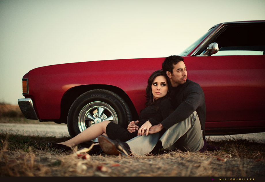 seventies chevelle engagement in country