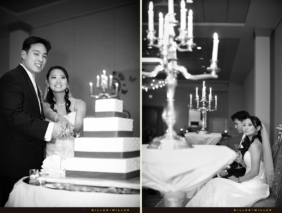 elegant black white wedding pictures