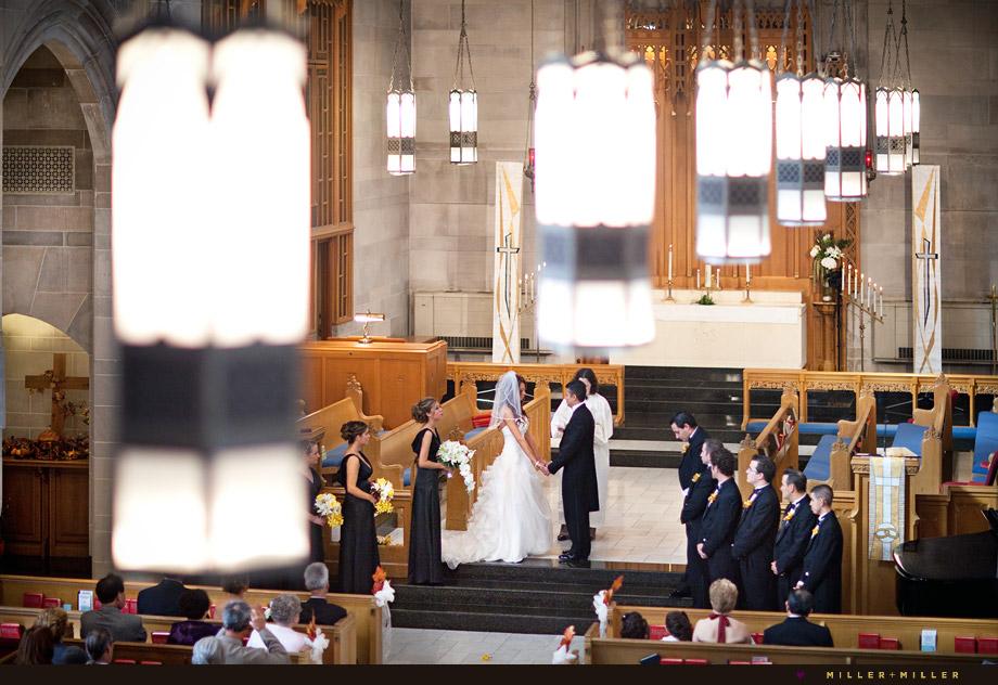 elegant downtown church wedding