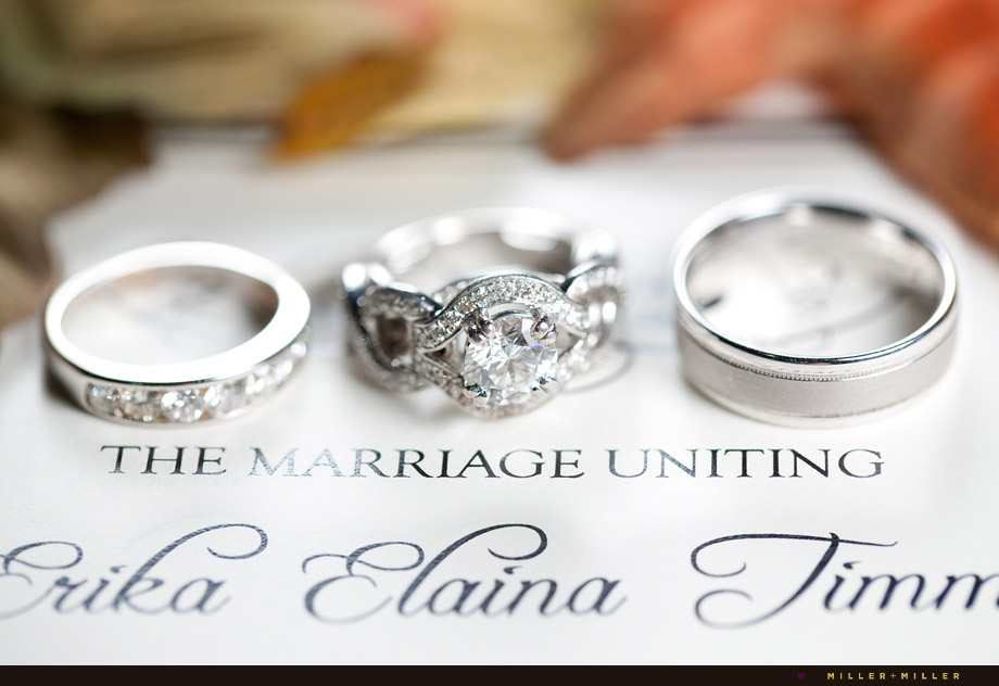 fall marriage bands rings
