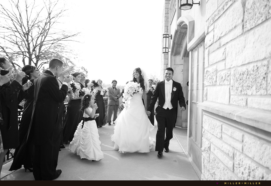 just married exiting church