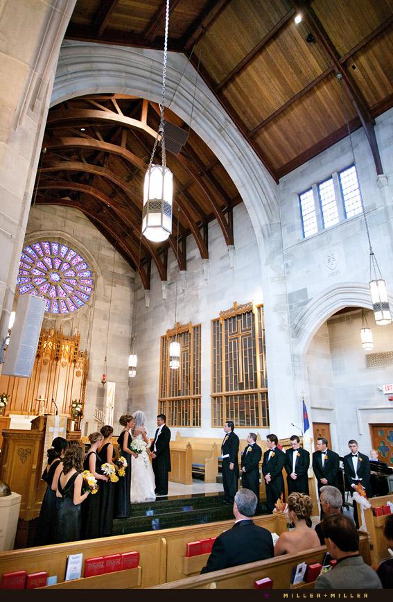 luxurious church wedding photography
