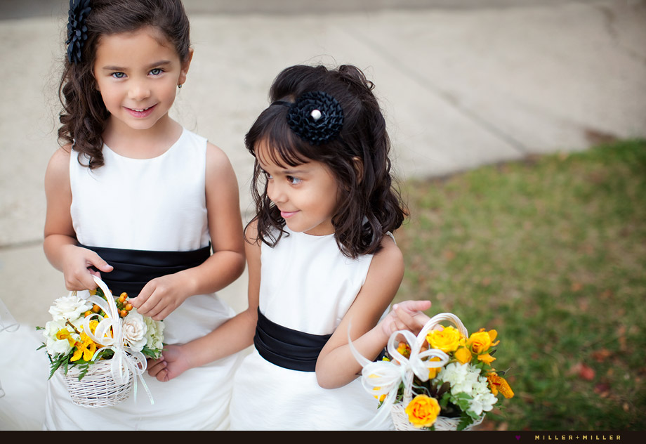 two flower girls