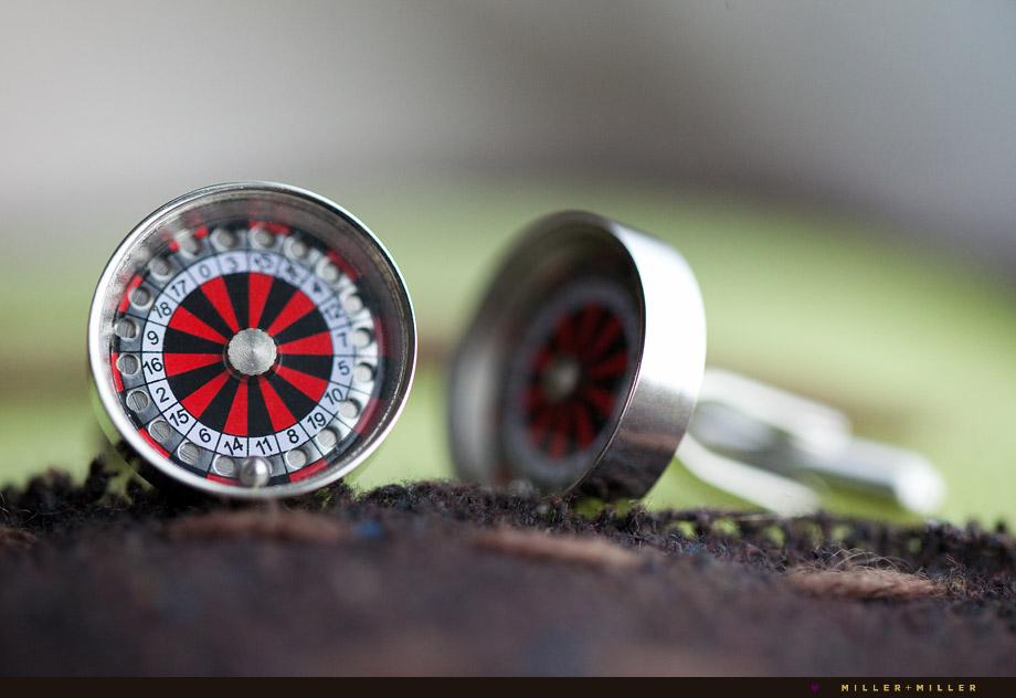roulette cufflinks
