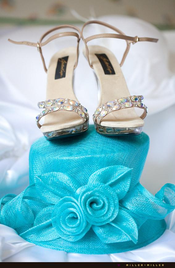 derby hat Swarovski crystals heels