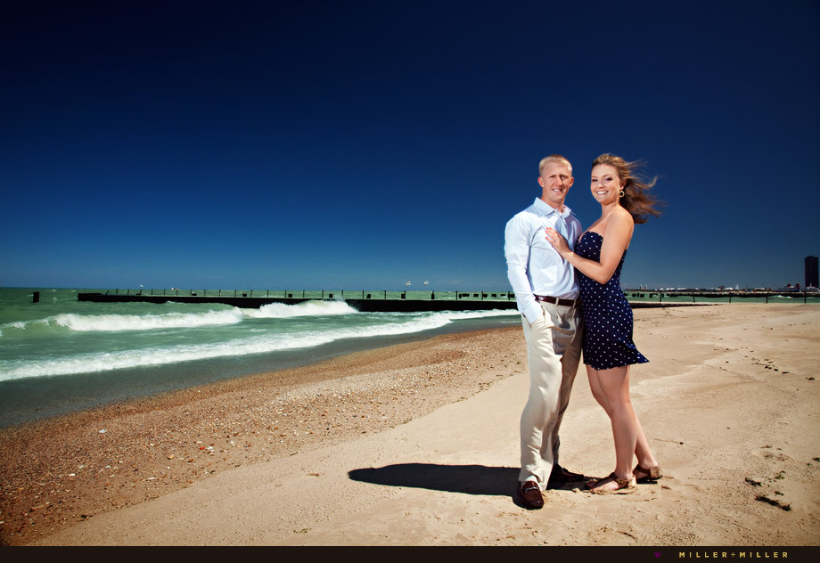 chicago engagement photos oak street north avenue beach