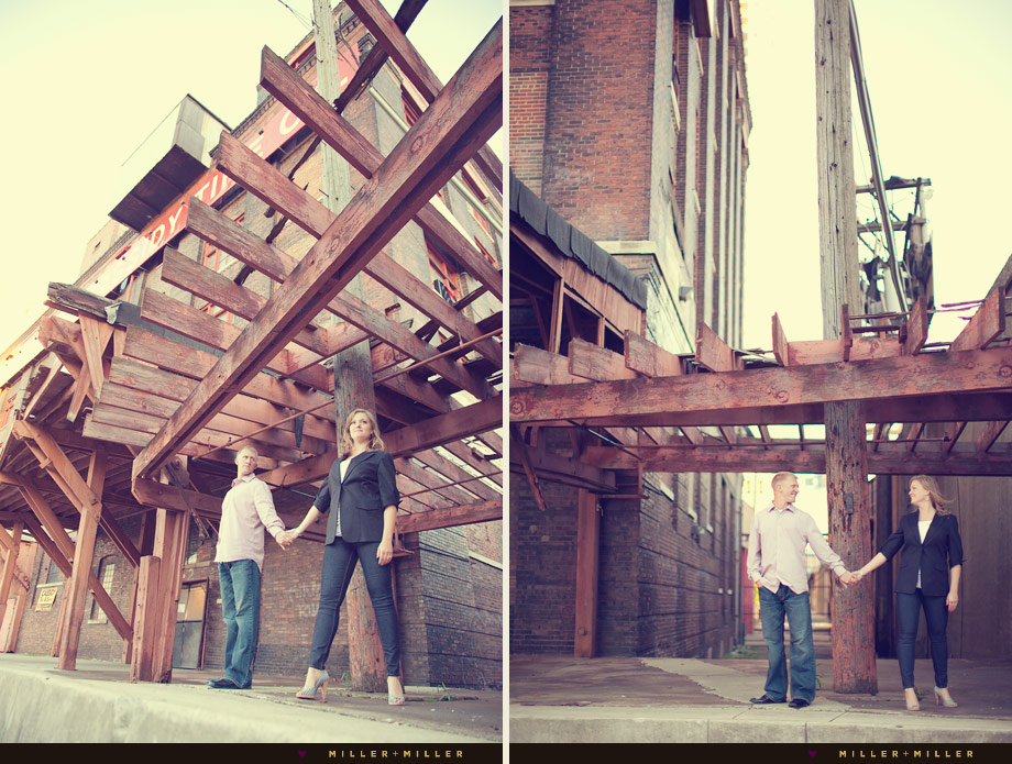 edgy engagement photography chicago