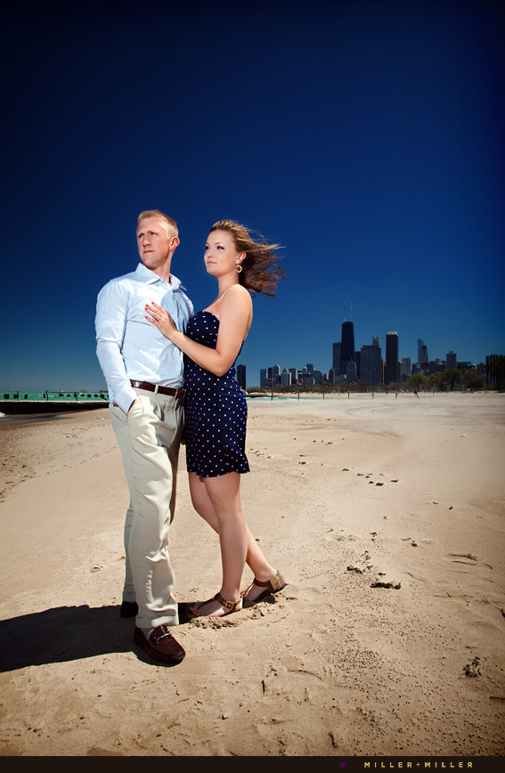 engagement portraits chicago beach