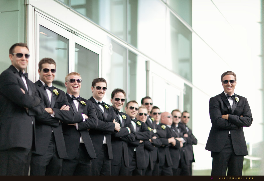 morning groom groomsmen sunglasses