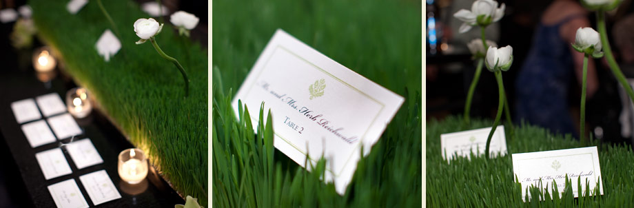 organic modern wheatgrass reception tablecards