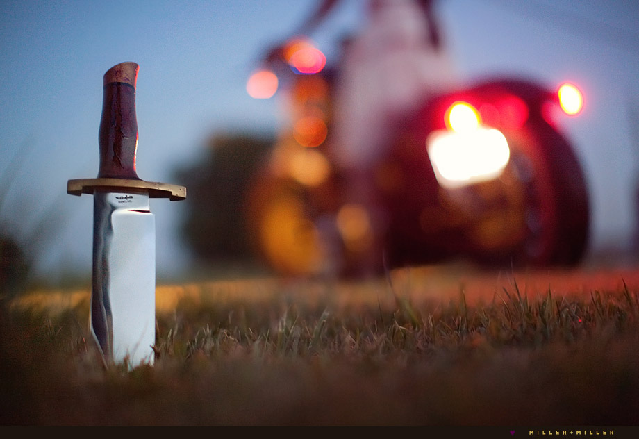 bowie knife stabbing ground
