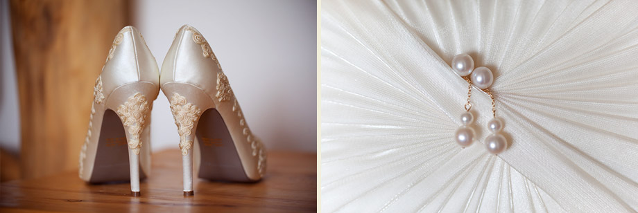 bridal photos ivory lace pearls