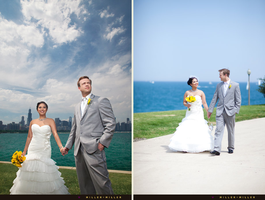 bride groom lake michigan chicago