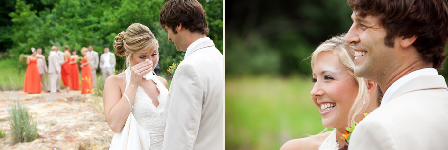 bride groom tears smiles