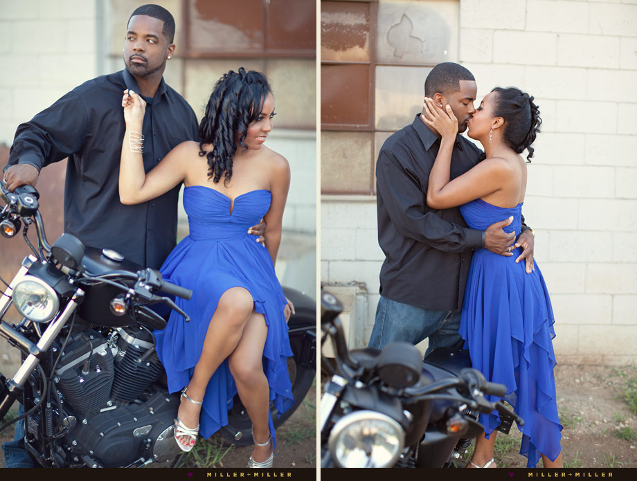 couple portraits on motorcycle