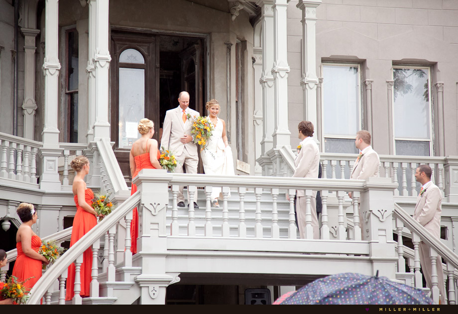 cuneo mansion outdoor staircase ceremony