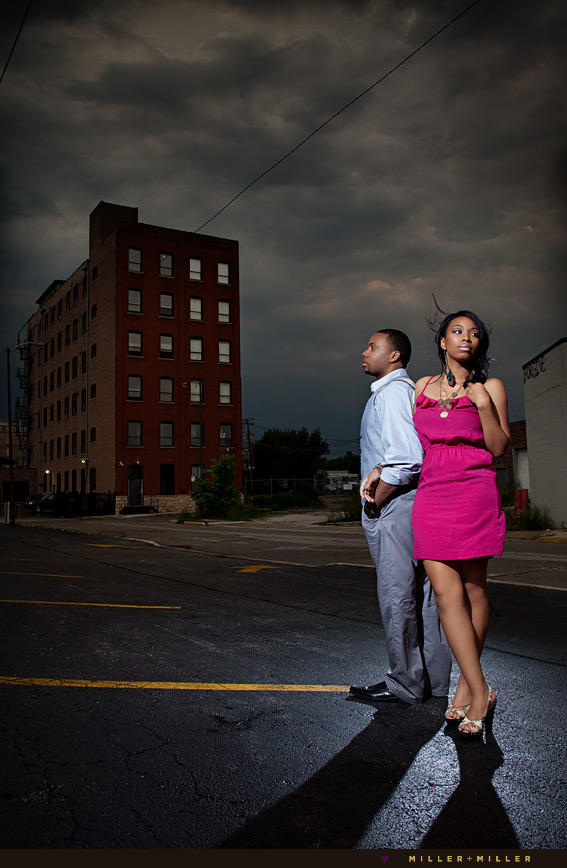 dramatic engagement photographer chicago