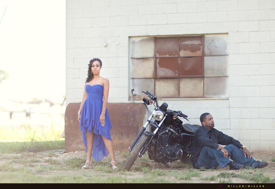 dramatic fashion engagement photos