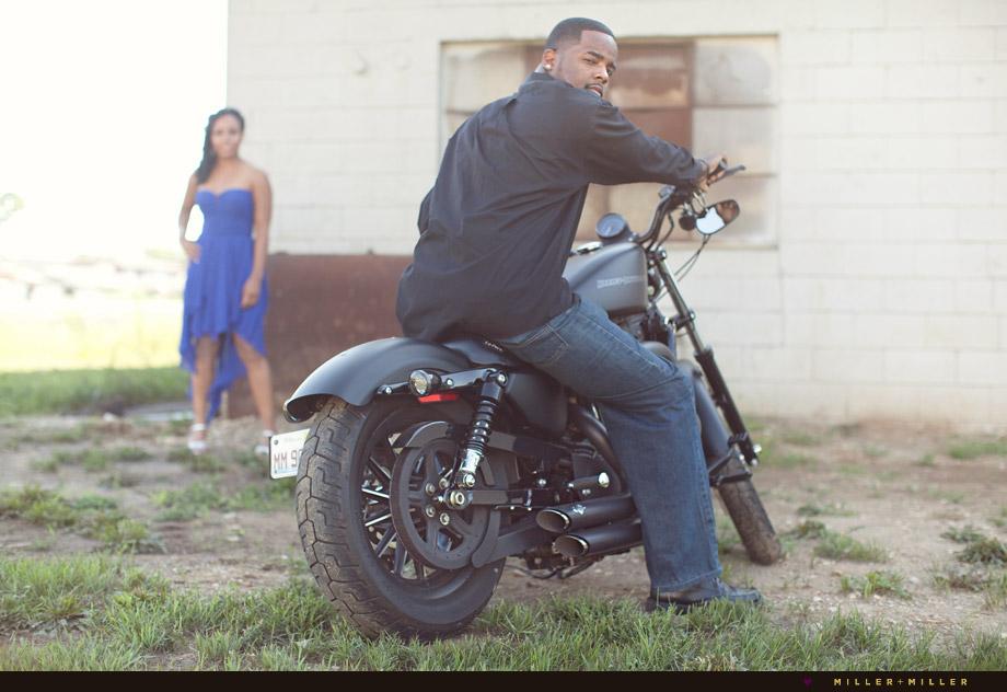 edgy portraits black motorcycle