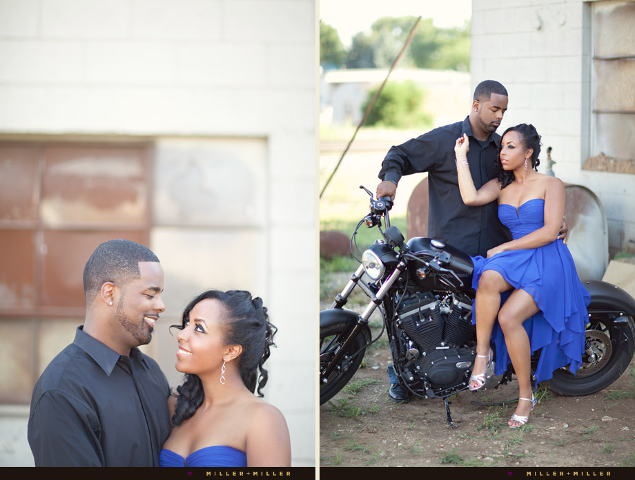 engagement photos on motorcycle