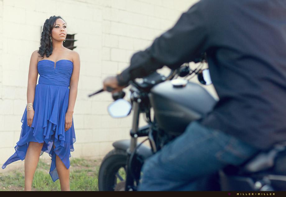 fashion inspired engagement photography