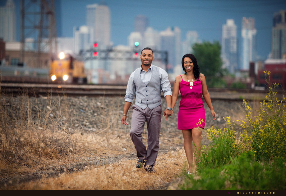 industrial chicago engagement photography
