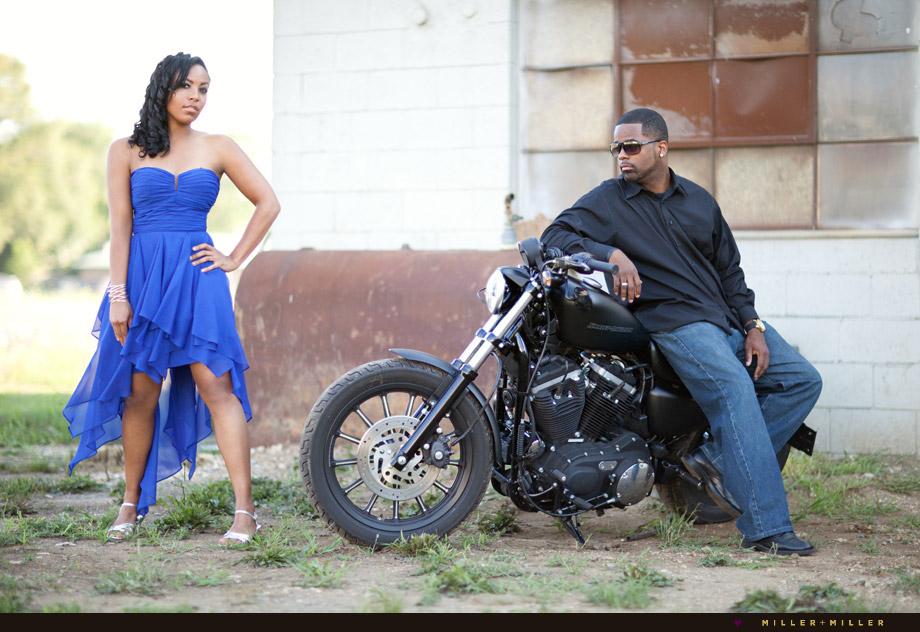 motorcycle engagement photographs