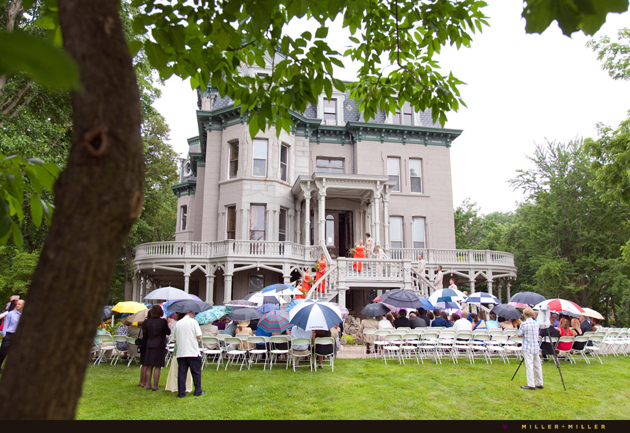 outdoor historic mansion ceremony