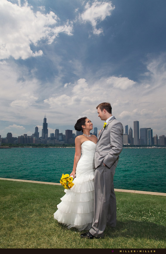planetarium wedding chicago skyline
