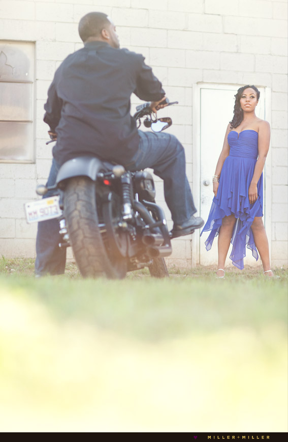 sexy bike engagement images