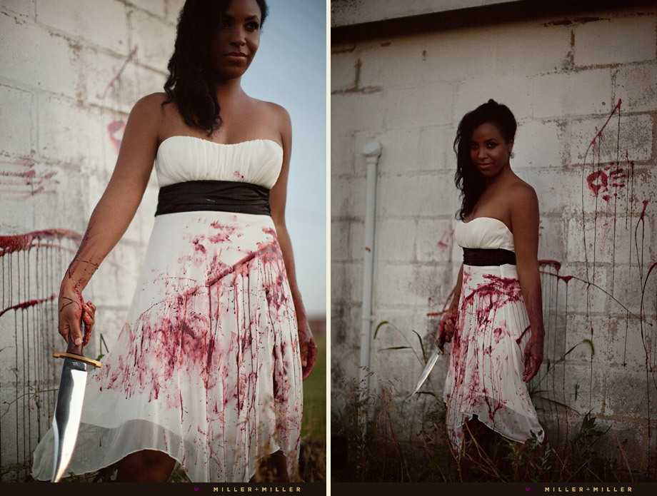 sexy trash the dress blood gore