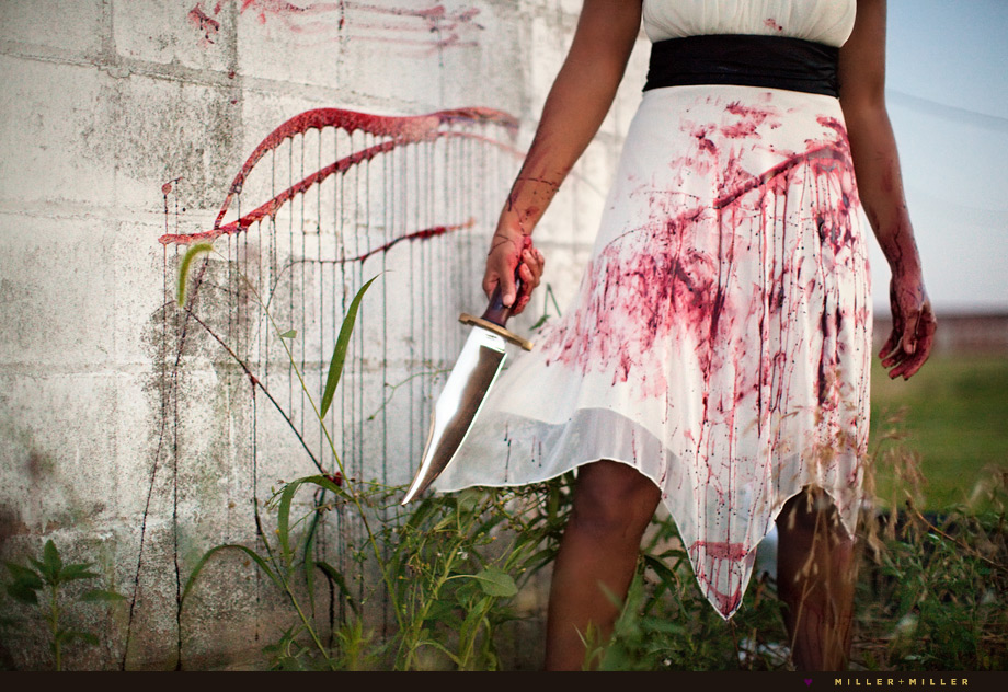 trash the dress blood knife