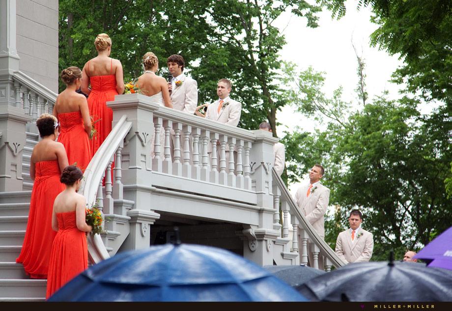 vows continue in the rain