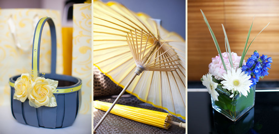 yellow parasol umbrellas