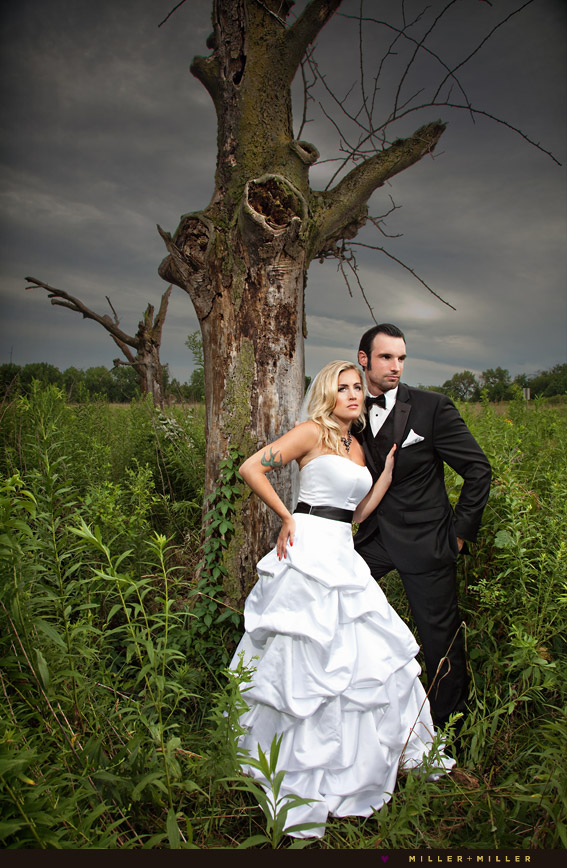 dramatic wedding photography chicago