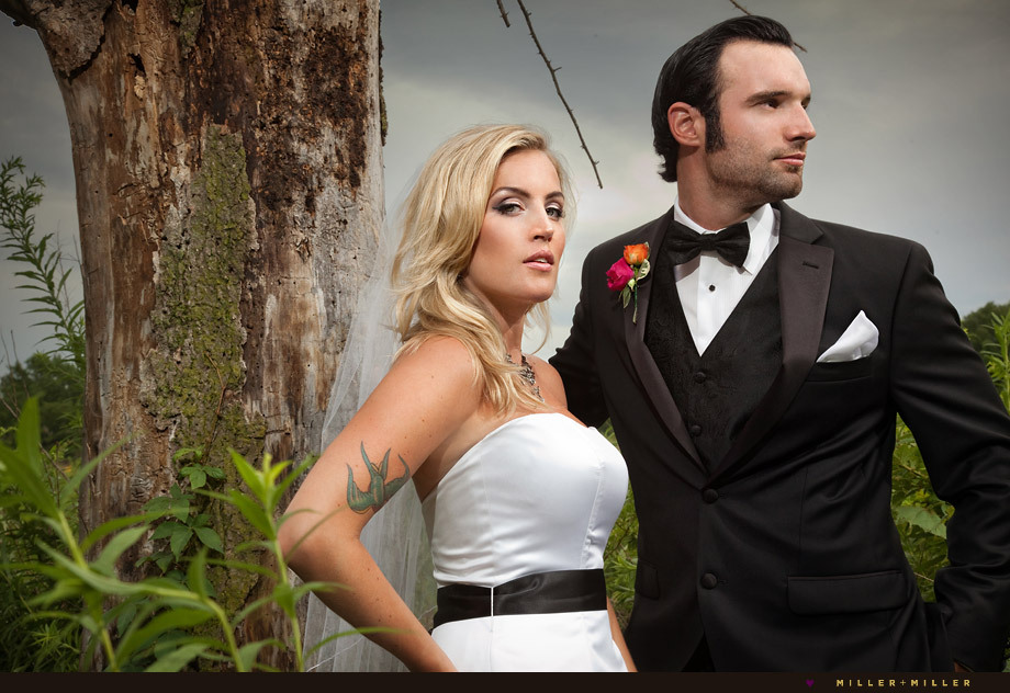 fashion magazine style wedding portraits