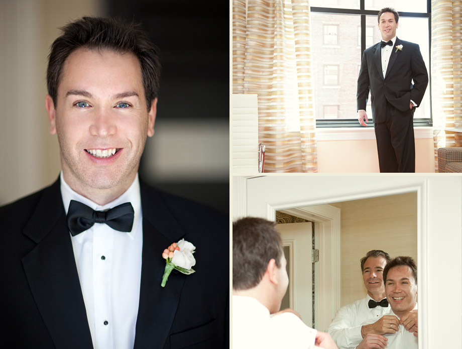 classic chicago wedding groom tuxedo