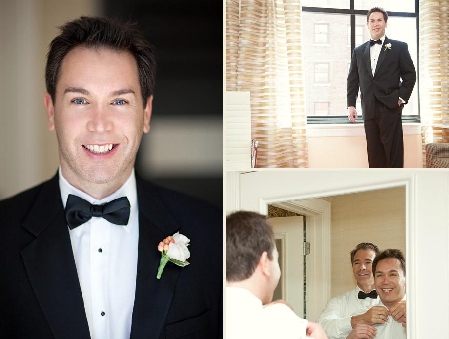 classic chicago wedding groom tuxedo