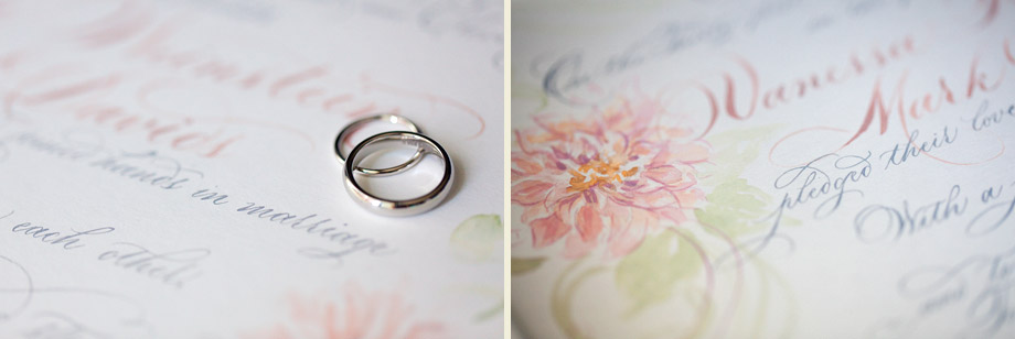 watercolor calligraphy marriage certificate
