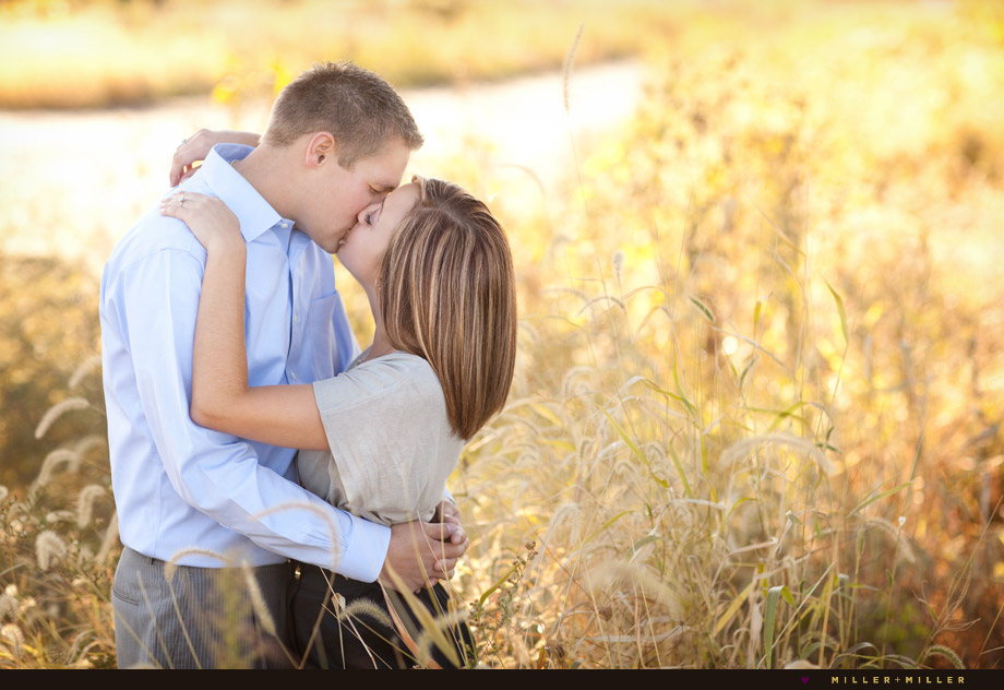 kissing in golden prairie image