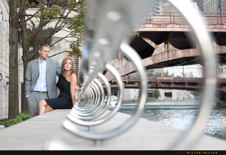 modern engagement photographer chicago