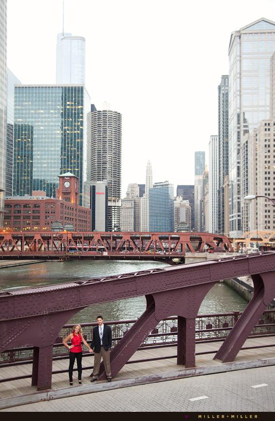 chicago river wedding photographs