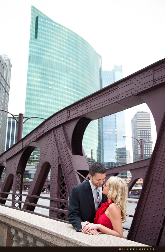 iron bridge engagement picture