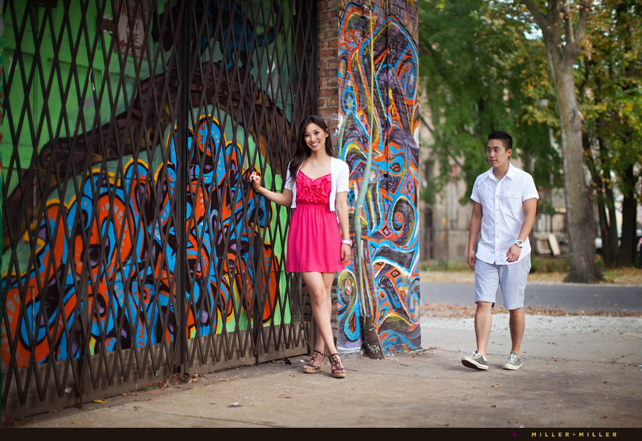 urban fashion editorial couple portraits
