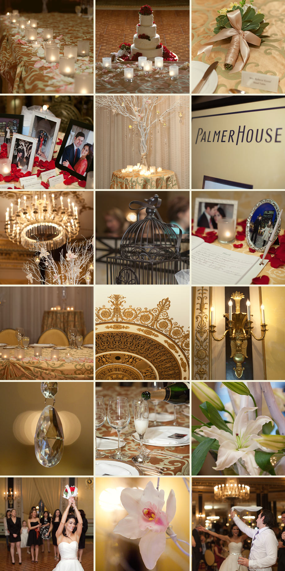 chicago gold wedding details photos