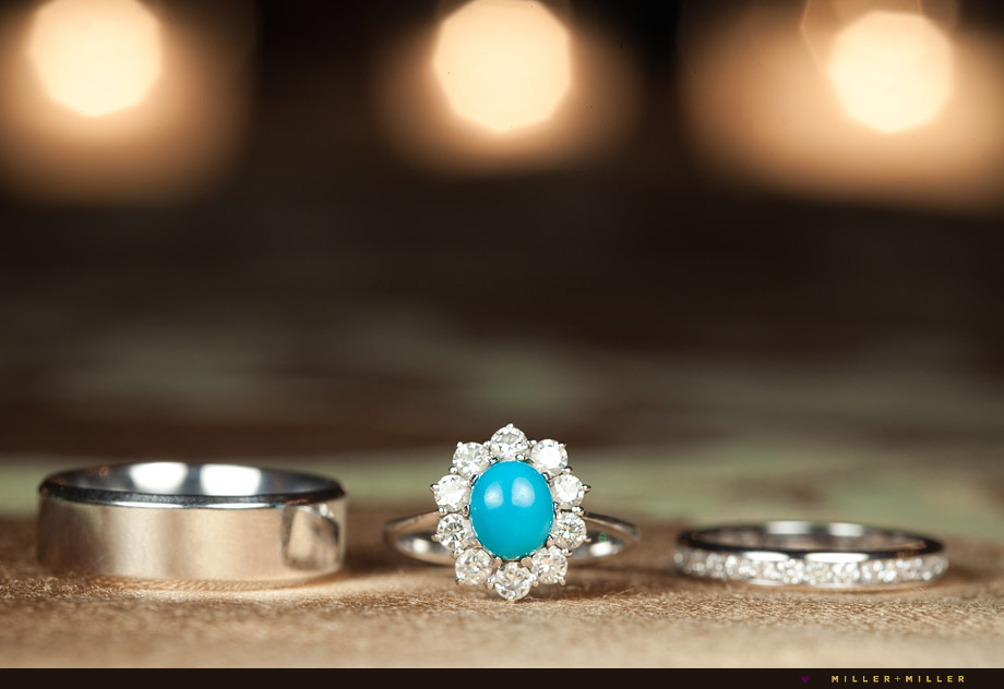 turquoise diamond engagement ring