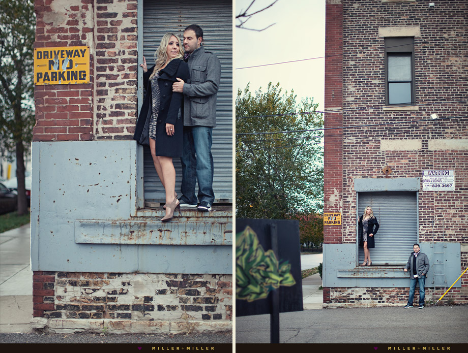 unique urban engagement photography