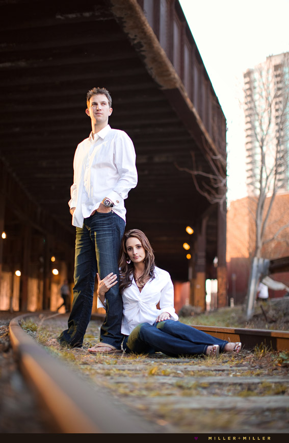 engagement photos abandoned train tracks