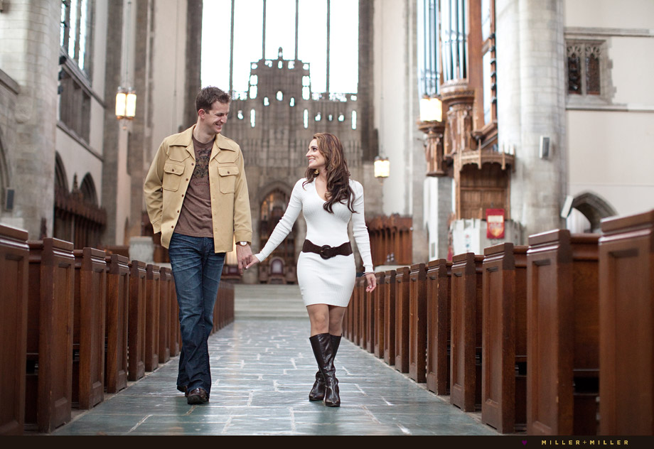 historic cathedral church aisle portraits